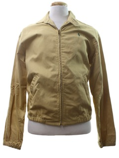 1980's Mens Zip Golf Jacket