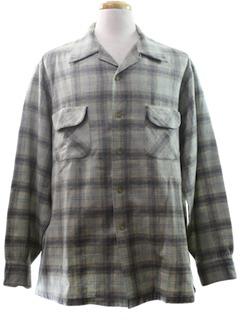 1960's Mens Pendleton Wool Shirt