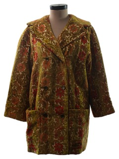 1960's Womens Mini Tapestry Coat Jacket