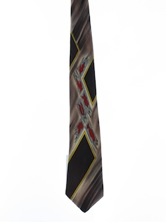 1950's Mens Medium Hand Painted Necktie