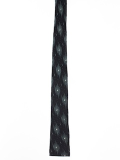 1950's Mens Flat Bottom Skinny Necktie