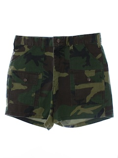 1980's Mens Camo Casual Cargo Shorts
