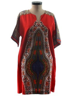 1970's Womens Dashiki Hippie Dress