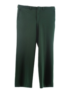 1980's Mens Christmas Green Slacks Pants