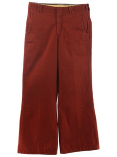 1970's Mens Wide Leg Slacks Pants