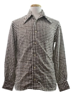 1970's Mens Mod Print Disco Shirt
