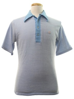 1970's Mens Tennis Style Polo Shirt