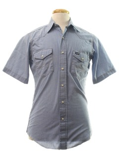 1980's Mens Western Chambray Work Shirt