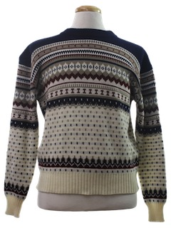 1980's Mens Totally 80s Ski Style Sweater