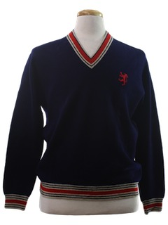 1960's Mens Golf Style Sweater