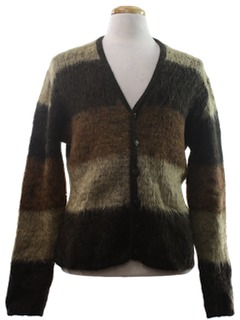 1950's Mens Wool Cardigan Sweater