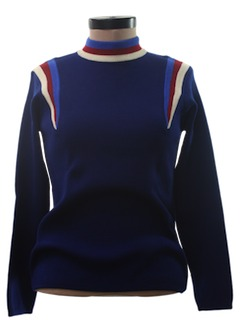 1970's Womens Wool Mod Ski Sweater