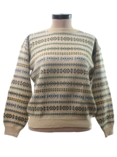 1980's Womens Ski Style Sweater
