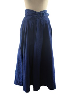 1980's Womens Western Style Denim Skirt
