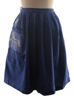 1980's Womens Denim Western Skirt