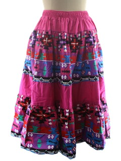 1980's Womens Western Style Skirt