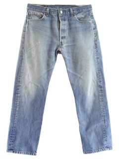 1980's Mens Levis 501 Grunge Jeans Pants