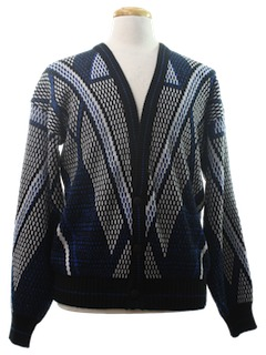1980's Mens Cosby Style Cardigan Sweater