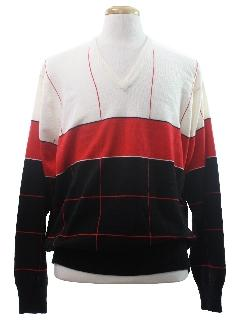 1980's Mens Totally 80s Golf Sweater
