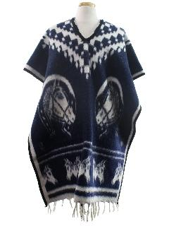 1980's Unisex Reversible Hippie Poncho Jacket