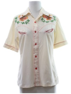 1970's Womens Western Hippie Shirt