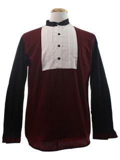 1990's Mens Western Tuxedo Shirt