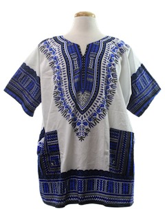 1970's Mens Hippie Dashiki Style Shirt