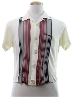 1950's Mens Waist Cut Sport Shirt