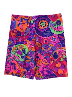 1980's Womens Flower Power Shorts