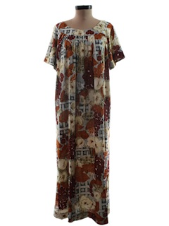 1970's Womens Muu-Muu Hawaiian Dress