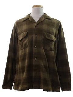 1970's Mens Wool Shirt