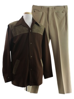 1970's Mens Combo Leisure Suit