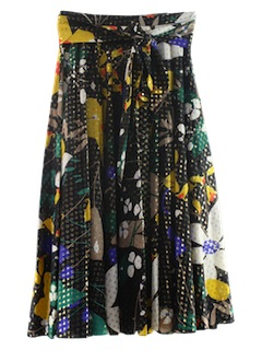 1960's Womens Maxi Cocktail Hippie Skirt