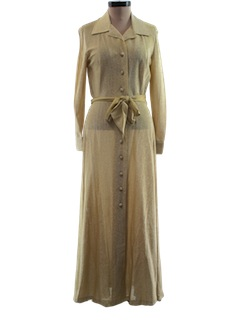 1970's Womens Maxi Cocktail Dress