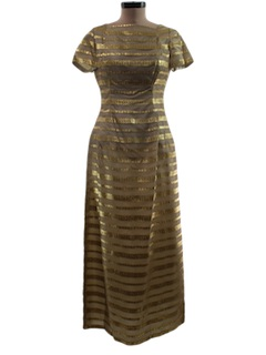 1960's Womens Maxi Cocktail Dress