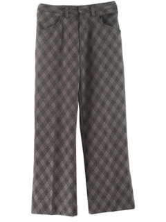 1970's Mens Flared Mod Disco Style Leisure Pants
