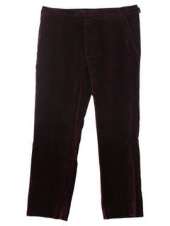 1990's Mens Velvet Slacks Pants