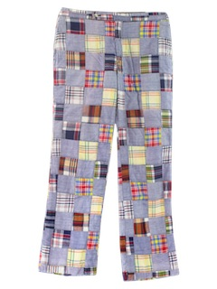1980's Mens Totally 80s Flared Golf Pants