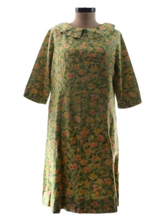 1960's Womens A-Line Day Dress