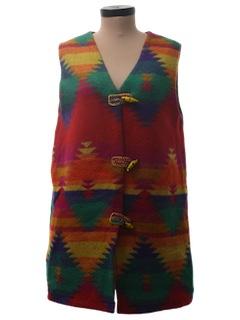 1980's Womens Western Style Hippie Vest