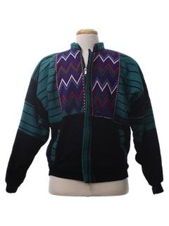 1980's Unisex Guatemalan Style Hippie Jacket