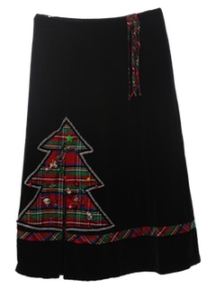 1980's Womens Ugly Christmas Skirt