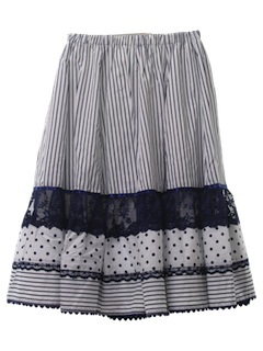 1980's Womens Square Dance Skirt