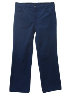 1980's Mens Jeans-cut Uniform Pants