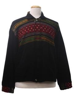 1990's Unisex Guatemalan Style Hippie Jacket