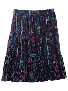 1980's Womens Southwestern Skirt