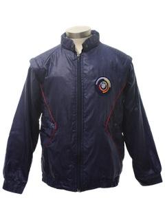 1980's Unisex Racing Style Windbreaker Jacket