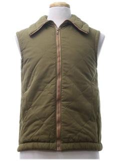1970's Mens Work Style Vest