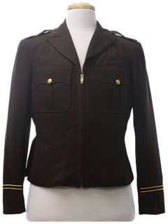 1980's Mens Police Style Work Jacket