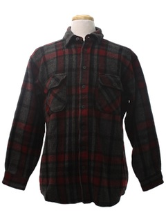 1980's Mens Flannel Wool Shirt